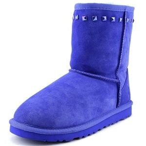 Ugg Classic Stud Blue Boots Size 4 Youth- 36 Women